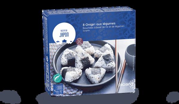 8 onigiri aux légumes