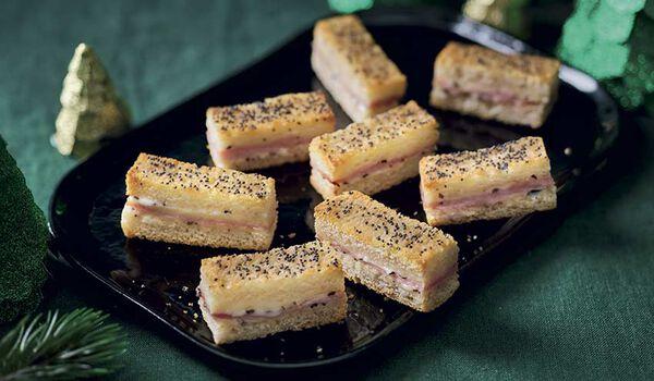 12 mini-croque à la truffe blanche d'été 1%
