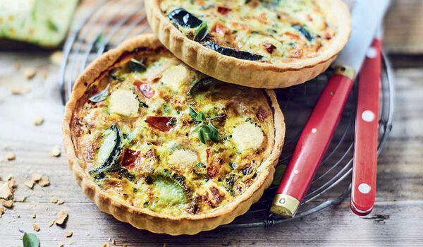 2 tartes bio courgette tomate féta AOP