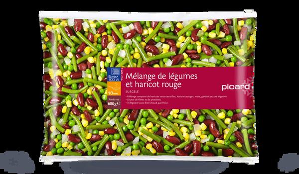 Mélange de légumes et haricot rouge