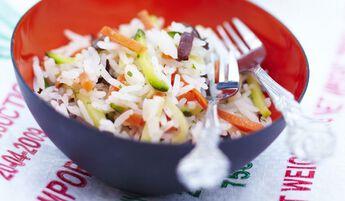 Riz basmati cuisiné aux petits légumes