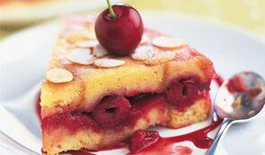 Gâteau brioche aux cerises