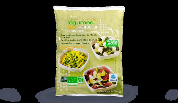 3 mélanges de légumes vapeur bio