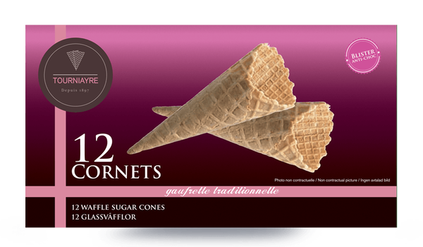 12 cornets à glace
