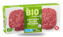 2 biftecks hachés bio, pur boeuf, 5% M.G