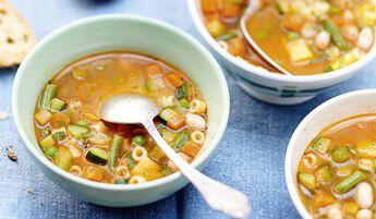 Potage minestrone, portionnable
