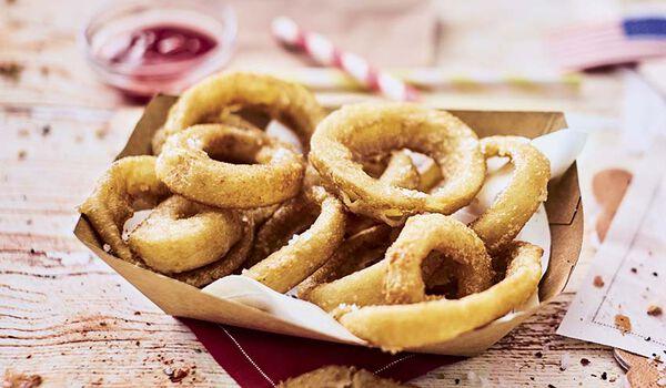 Onion rings, beignets d'oignons croustillants