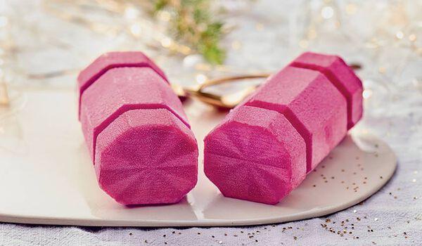 2 bûchettes glacées framboise-litchi