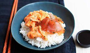 Chirashi, aux poissons marinés et coco