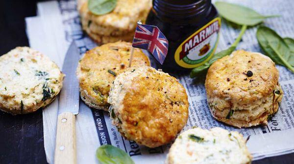 Scones au saumon et aux épinards (Royaume-Uni)
