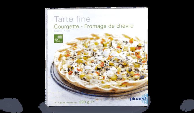 Tarte fine courgettes fromage de chèvre