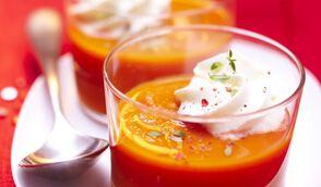 Velouté de carottes, chantilly au thym