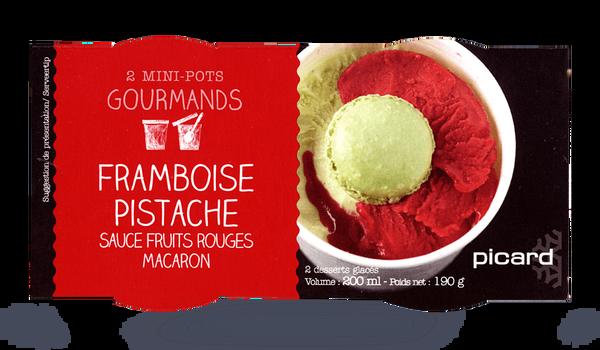 2 mini-pots framboise-pistache