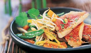 Filets de rouget marinés à l'asiatique