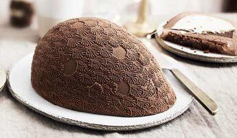 Oeuf glacé chocolat-vanille, 6 parts