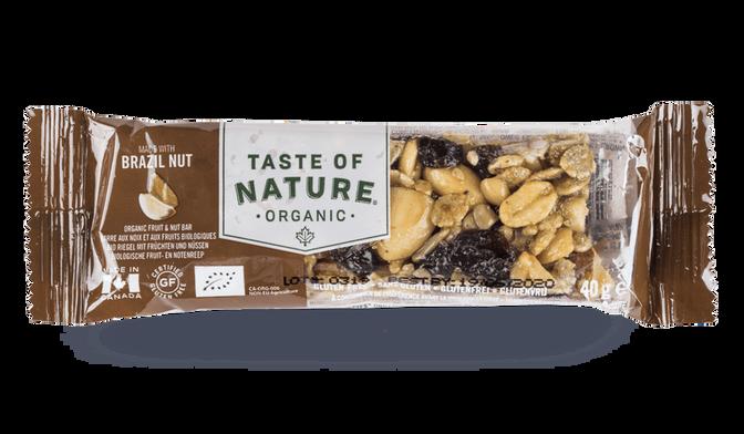 Barre aux noix et aux fruits biologiques