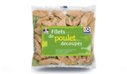 Filets de poulet découpés, origine France