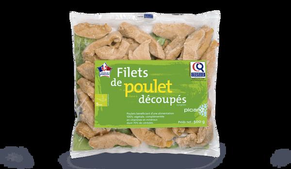 Filets de poulet découpés, origine France