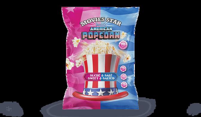 American pop corn sweet salted