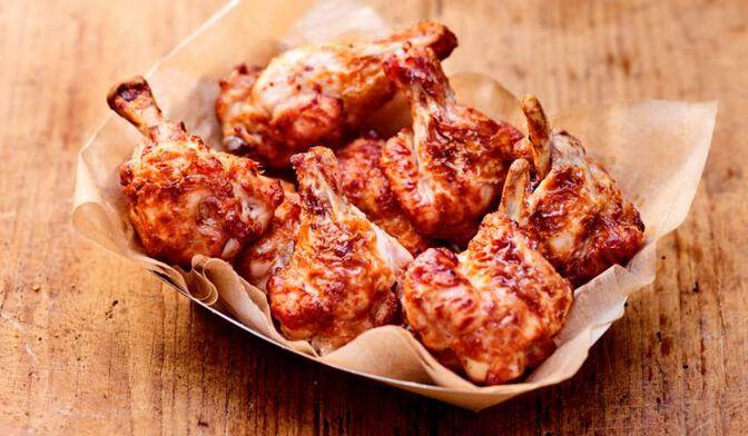 Manchons de poulet rôtis