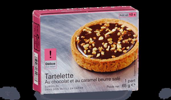 Tartelette au chocolat et au caramel beurre salé
