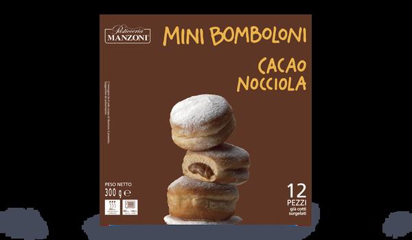 Mini bomboloni, cacao-noisette