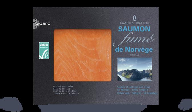 8 tranches de saumon fumé Norvège ASC