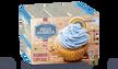 Rainbow cupcake, coeur à la framboise