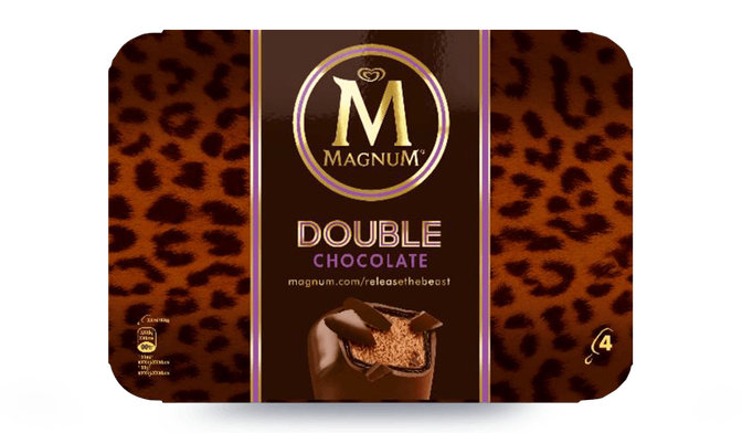 4 Magnum Double Chocolat