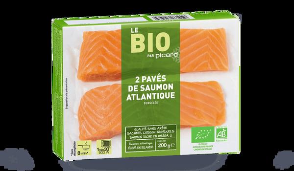 2 pavés saumon Atlantique bio, Irlande ou Ecosse