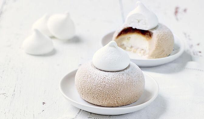 2 desserts glacés façon Mont-Blanc