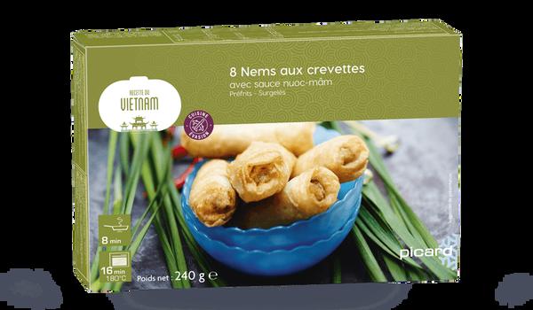 8 nems aux crevettes