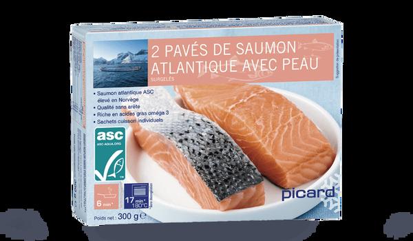 2 pavés de saumon atlantique avec peau ASC