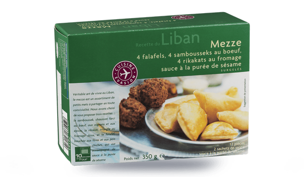 Mezze, assortiment de 12 pièces