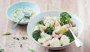 Salade de choux-fleurs et brocolis à l'asiatique