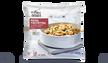 Pâtes, crevettes,courgettes grillées,sauce basilic
