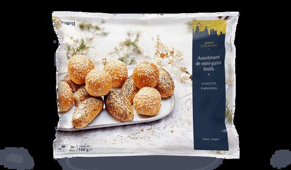 Assortiment de mini-pains festifs, à garnir