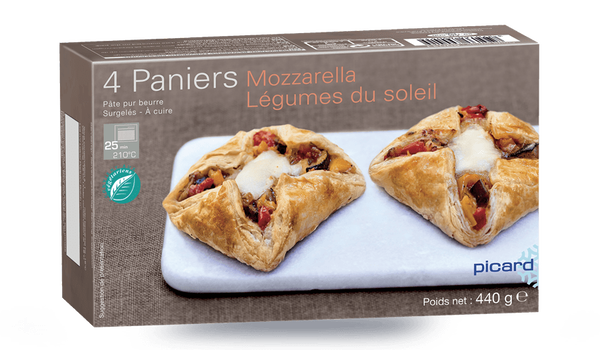 4 paniers Mozzarella Légumes du soleil