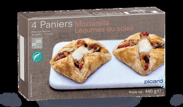 4 paniers Mozzarella, légumes du soleil
