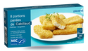 8 portions de cabillaud MSC panées pré-frites