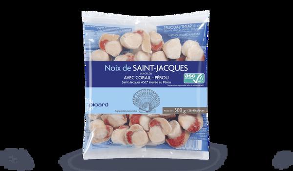 Noix de Saint-Jacques Pérou ASC, avec corail