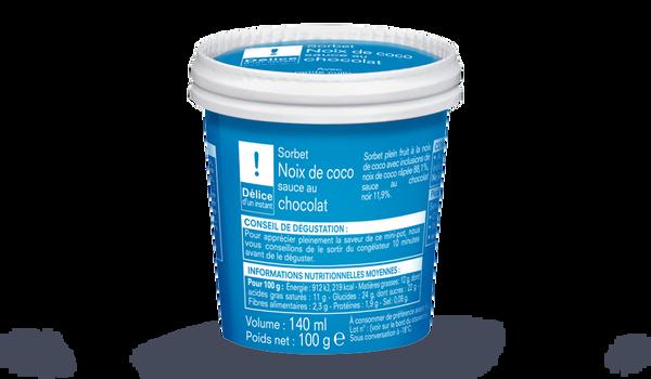 Noix de coco - sauce chocolat