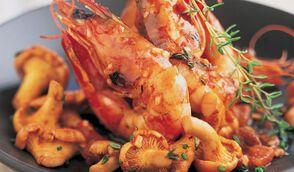 Crevettes sautées à la provençale