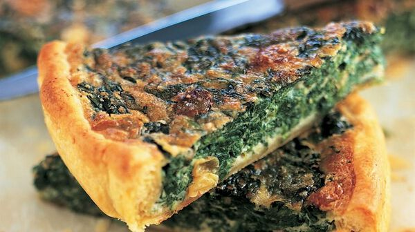 Tarte aux épinards et au Roquefort
