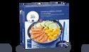 Chirashi au saumon, mangue et concombre