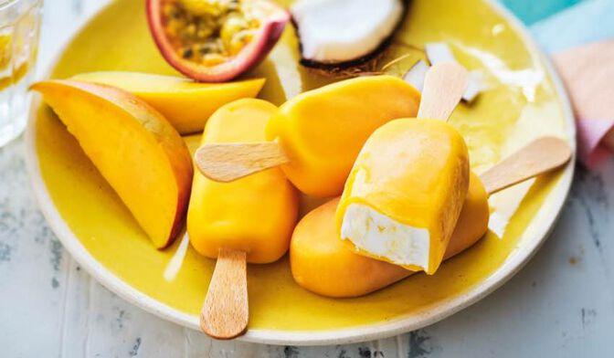 6 mini-bâtonnets lait de coco, mangue-passion