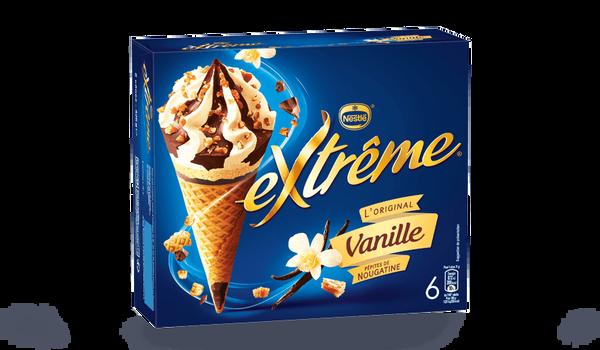 6 cônes extrême vanille