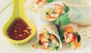 Rouleaux de printemps au crabe et aux légumes