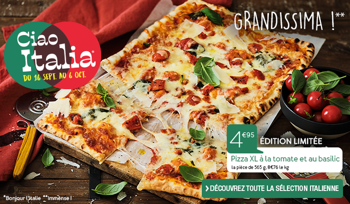 Pizza XL à la tomate et au basilic