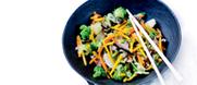 Le mélange de légumes asiatiques
